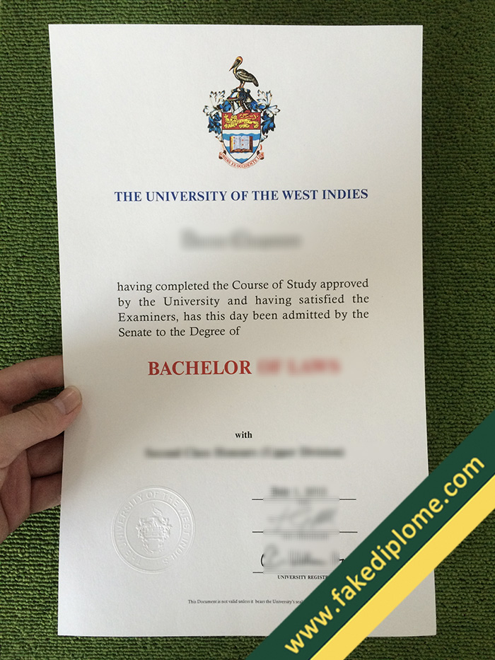 fake University of the West Indies diploma, University of the West Indies fake degree, fake University of the West Indies certificate