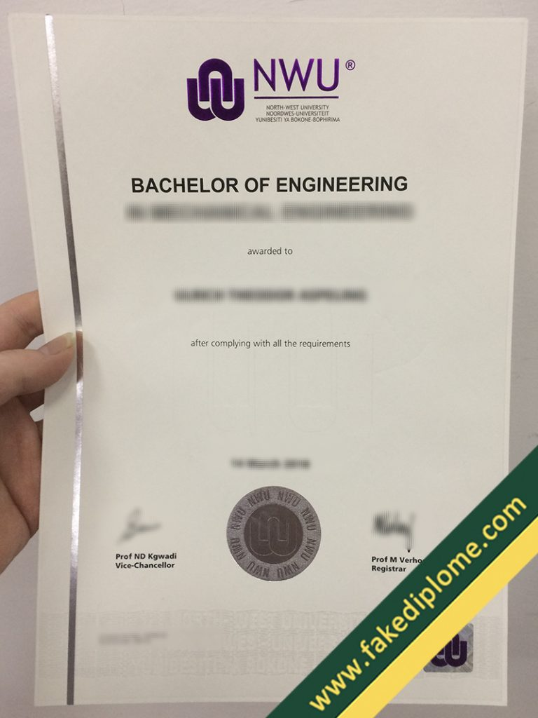 FAKE North-West University diploma, North-West University fake degree, fake North-West University certificate