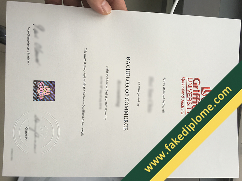 fake Griffith University diploma, Griffith University fake degree, fake Griffith University certificate