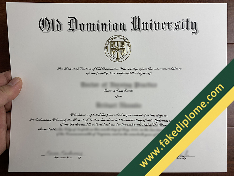fake Old Dominion University diploma, Old Dominion University fake degree, fake Old Dominion University certificate