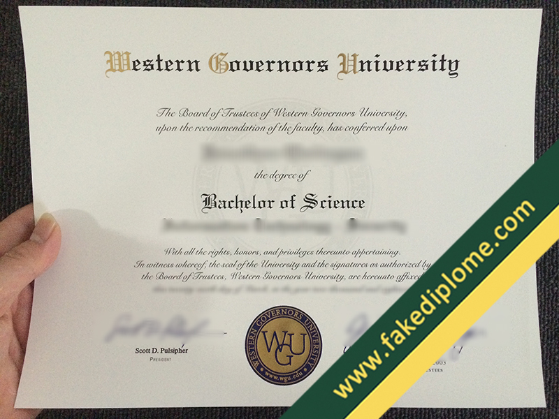 fake Western Governors University diploma, Western Governors University fake degree, fake Western Governors University certificate