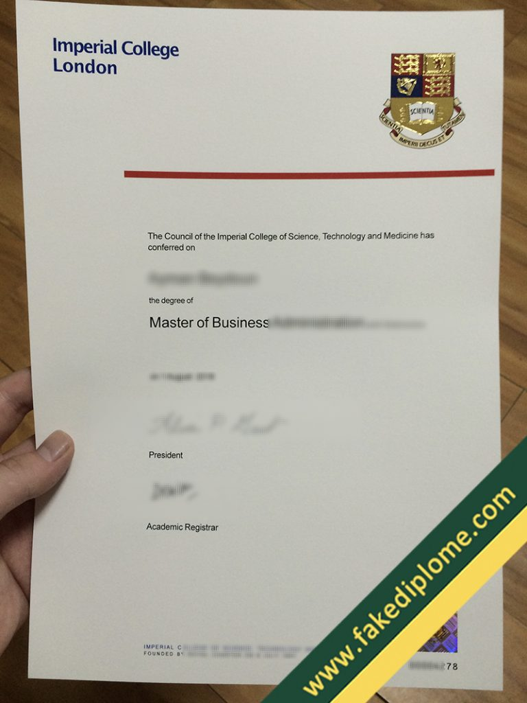 fake Imperial College London diploma, Imperial College London fake degree, Imperial College London fake certificate