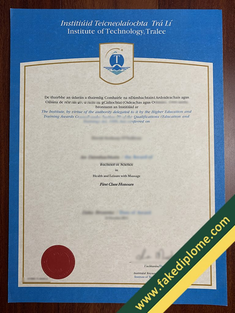 fake Institute of Technology, Tralee diploma, Institute of Technology, Tralee fake degree, Institute of Technology, Tralee fake certificate